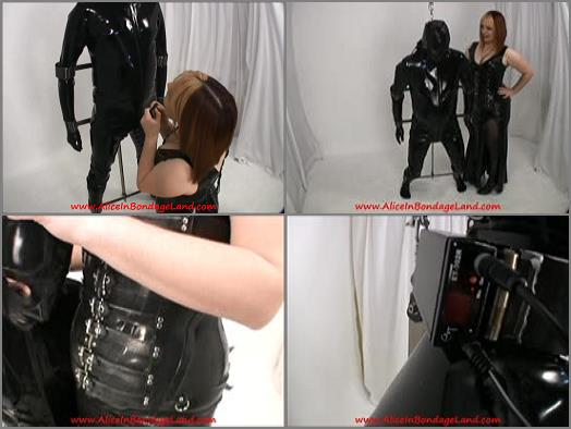 Aliceinbondageland  METAL SUSPENSION BONDAGE  SCAVENGERS DAUGHTER  RUBBER FEMDOM CBT preview