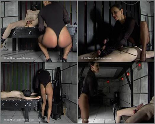 Female Domination - Ball Busting Chicks – Bound to be jerked off -  Empress
