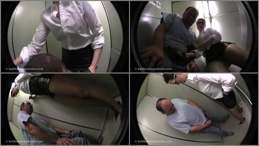 Ball Busting Chicks  Thrashed in the elevator   Victoria Valente preview