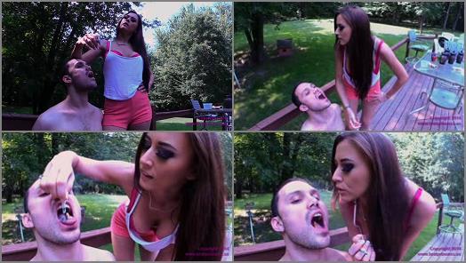 Tongue Burning – Brat Princess 2 – Alexis – Uses a Human Ash Tray for Two Cigarettes
