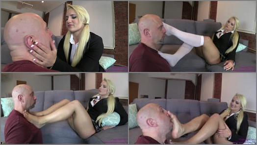 Brat Princess 2  Cali Carter  Makes Mr Puckerman her Foot Bitch preview