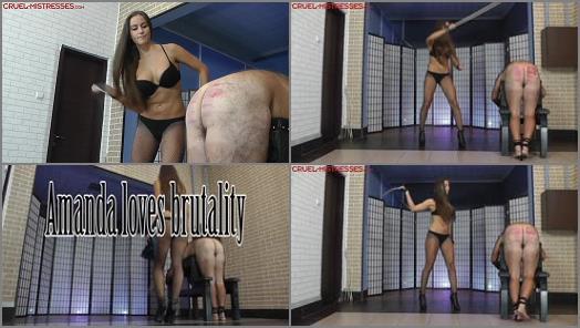 Caning – CRUEL MISTRESSES – Amanda loves brutality –  Mistress Amanda