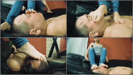 CRUEL PUNISHMENTS  SEVERE FEMDOM  Foot smother with naked feet   Lady Anette preview