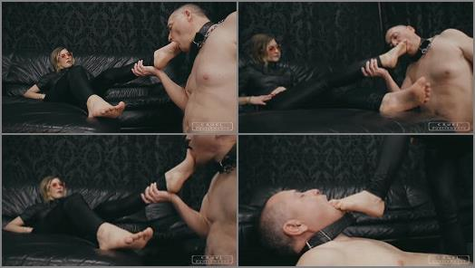 Female Domination -  CRUEL PUNISHMENTS – SEVERE FEMDOM – Forced foot sucking -  Mistress BloodyMary