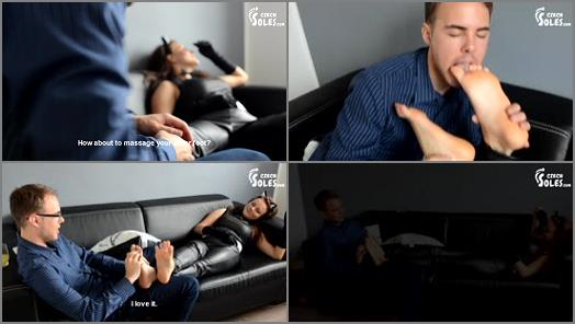 Bare Feet - Czech Soles – Houseparty foot fun -  Megan and Charlie