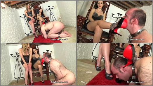 Dirty Dommes  Our Louboutin licker part 1   Nikki Whiplash and Fetish Liza  preview