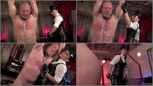 DomNation  CANED WITH UTTER CRUELTY  Starring Mistress Bella Blackheart preview