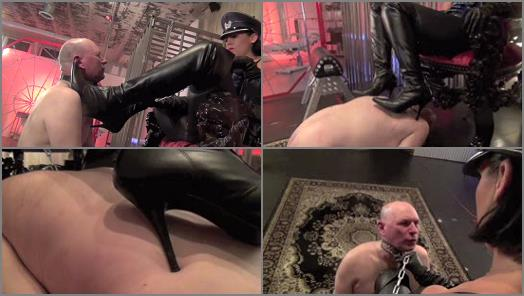 DomNation  WELL HEELED TRAINING AN ASPIRING BOOT SLAVE  Starring Domina Illsa preview
