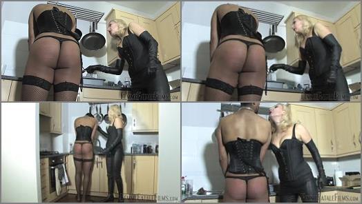 FemmeFataleFilms  Kitchen Caning  Complete Film   Mistress Akella preview