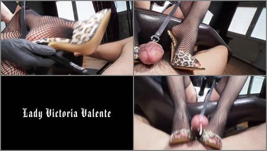 GERMAN FEMDOM Lady Victoria Valente  Ruined orgasm and small penis humiliation very horny game preview