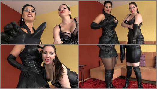 Goddess Alexandra Snow  Double Leather Jerk Off Instruction   Mistress Ezada Sinn preview