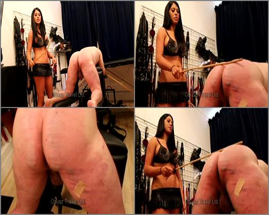 Cane - Goddess Eclipse – Heartless caning on the bench