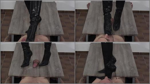 Heel Insertion - High Heels Goddess – Lady Latisha – Lady Latisha's Stiletto Boot Heels vs. Cock