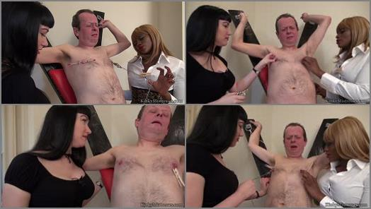 KinkyMistresses  Nipple Punishment At The Cross  Complete Film  Starring Goddess Cleo  Mistress Ava Black preview