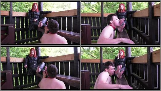 Foot Domination - Lady Karame – Caught while licking my feet in public