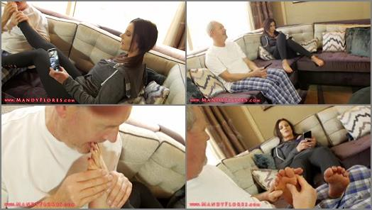 Footlicking - Mandy Flores – Grandpas Foot Fetish Blackmail HD Mandy Flores Financial Domination