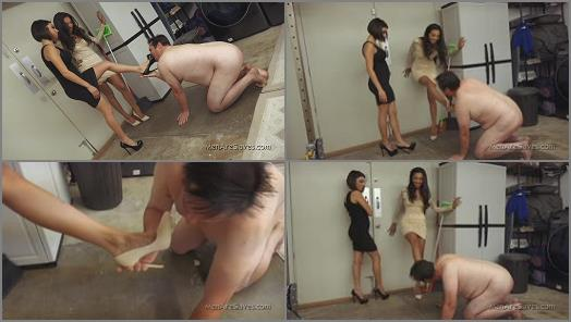 Men Are Slaves  Walking In Hollywood   Goddess Darcy and Princess Jennifer preview