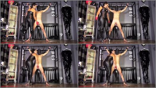 Mistress Ezada Sinn  Red leather half gloves double ruin preview