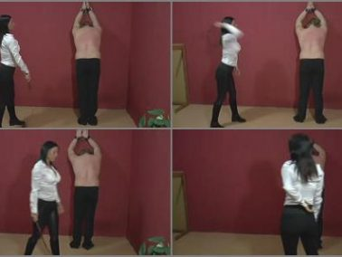 Whipping - Mistress Jenna Sadurnus – Jenna is his whip