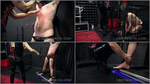 Mistress Nikita FemDom Videos  Obey Nikita  Scratched Flogged  Spit On  preview