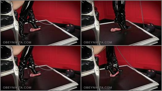 Mistress Nikita  Obey Nikita  Shiny Black Boots  preview