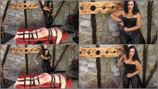 SADO LADIES Femdom Clips  A Hard Belting   Mistress Ezada Sinn preview