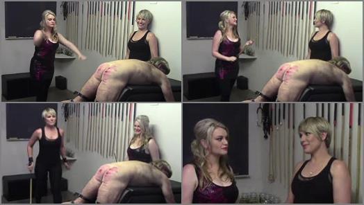 Strafkamer  Ronald Frump  The Hurt Locker Room   Mistress Baton and Mistress Bardot preview