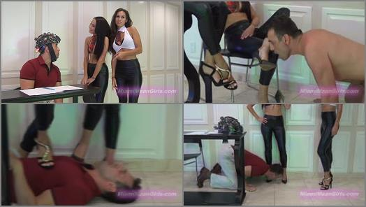 Office Domination - THE MEAN GIRLS – Mean Mind-Control Schoolgirls -  Princess Bella and Goddess Rodea