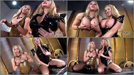 VICIOUS FEMDOM EMPIRE  Enslaved to Double DDs  Starring Olivia Austin and Summer Brielle preview