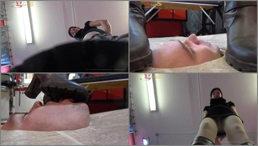 Humiliation - house slaves of young girls – Facetrampling until you cry -  Miss Jane