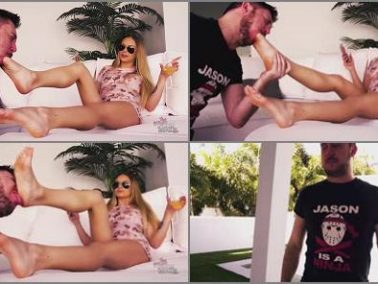 Foot Domination -  Bratty Foot Girls – Naomi Swann – Rich Brat Foot Slavery