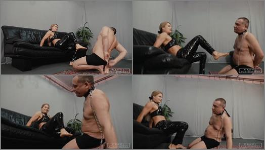 CRUEL PUNISHMENTS  SEVERE FEMDOM  Hard smacks with feet   Mistress Zita  preview