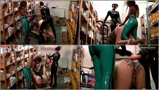 Carmen Rivera  Two mistress monster strapon domination to slave in sexshop  preview