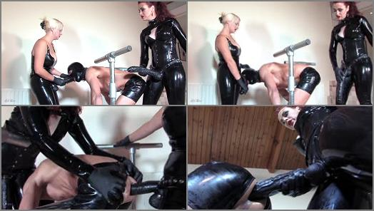 Mistress Lady Renee  Latex spit roast   Mistress Heather Divine and Lady Renee  preview