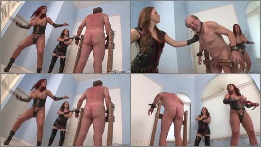 ClubDom  Megan and Mistress Friend Whips Slave  preview