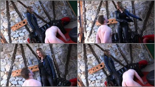 SADO LADIES Femdom Clips  Slapped Hard By The Bikerlady   Mistress Cloe  preview