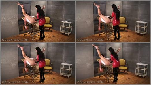 Mistress Nikita FemDom Videos  Obey Nikita  Gloved Finger Fuck Hole  preview