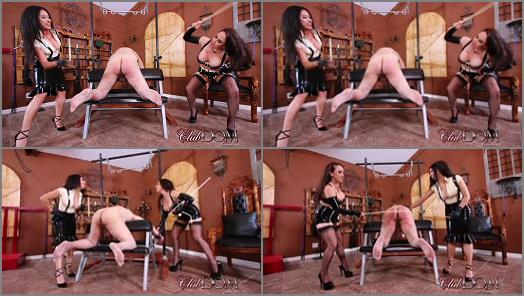 ClubDom  Jewell and Tangent Cane the Ass slave  preview
