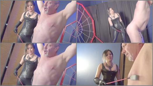 Asian Cruelty  THE LITTLE COCK BEATING GOES ON   Mistress Mara Julianne  preview