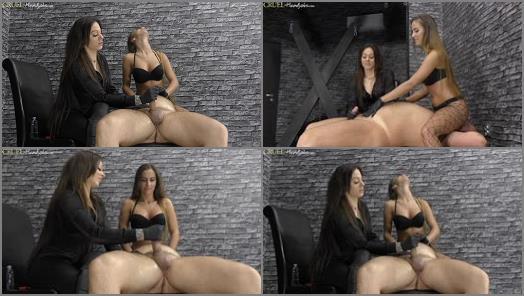 HANDJOBS MISTRESS  Cleo and Amanda give him a handjob   Mistress Amanda and Mistress Cleo  preview