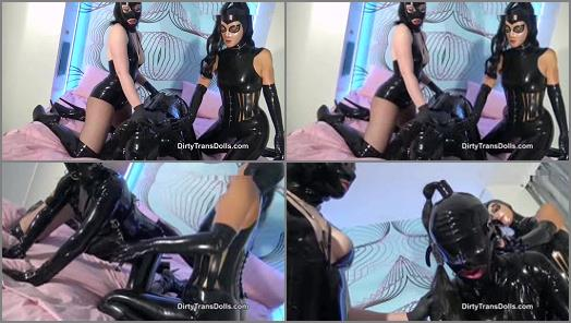 Dirty Trans Dolls  Bound and milked latex doll part 1   Fetish Liza  preview