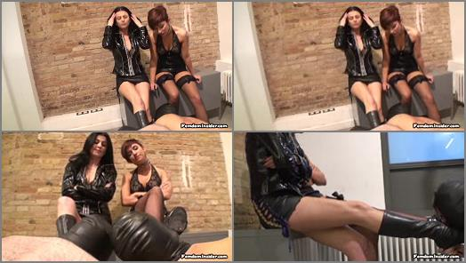 Femdom Insider MP4  Two oral Servants for our Dirty Boots  preview