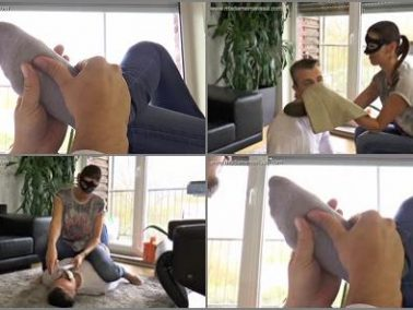 Socks Fetish - Madame Marissa – Slave massages and smells my stinky feet -  Madame Marissa
