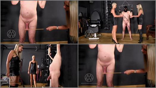 Mistress Nikki Whiplash  Cock whipped  Caned by Nikki  Hunteress WL1410  preview