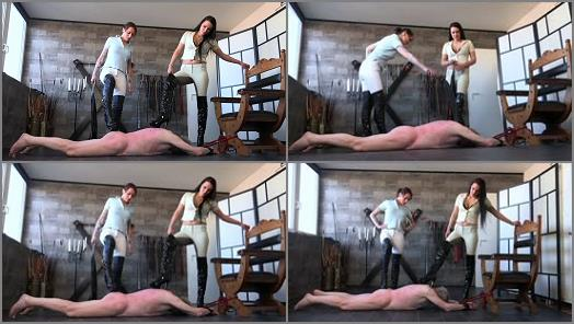 FEMDOMPOVCLIPS  Whipped On The Floor   Miss Jayla And Mistress Medina  preview