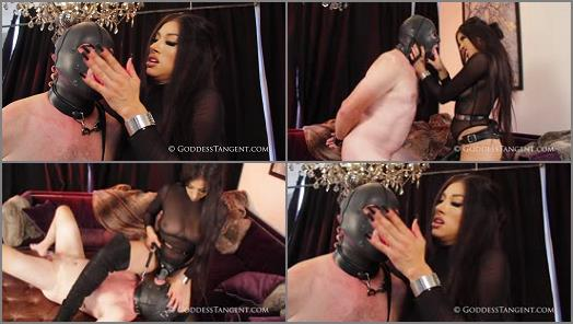 Goddess Tangent World of Femdom  Training His Mouth To Please My Friends  preview