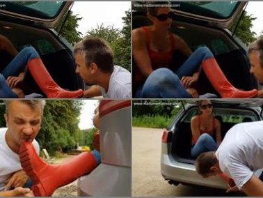 K2s.cc - Madame Marissa – Dirty hunter boots licking in the parking lot
