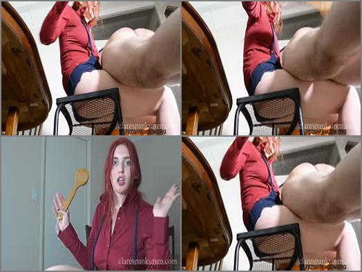 Spanking F_m – Clare Spanks Men – Manners Training Day 1 –  Audrey Tate