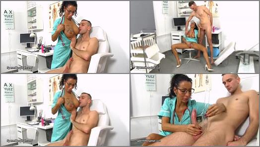 Sperm Hospital  Sexy legs MILF nurse Stela Extracting Semen  preview