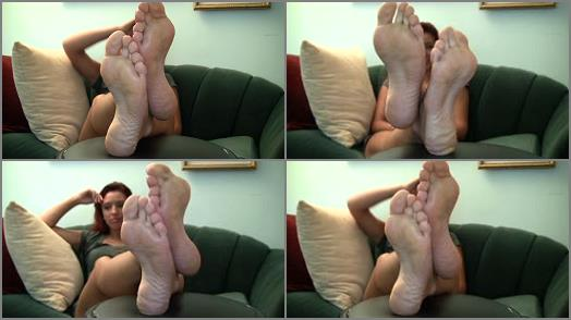 Shiny soles - Alexis Candid Stinky Soles Part 9